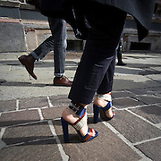 Le scarpe viste durante le settimana della moda..The shoes saw during the Milan fashion Week