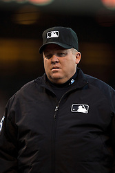 SAN FRANCISCO, CA - JUNE 24:  MLB umpire Fieldin Culbreth #25 stands on the field before the game between the San Francisco Giants and the San Diego Padres at AT&T Park on June 24, 2015 in San Francisco, California.  The San Francisco Giants defeated the San Diego Padres 6-0. (Photo by Jason O. Watson/Getty Images) *** Local Caption *** Fieldin Culbreth
