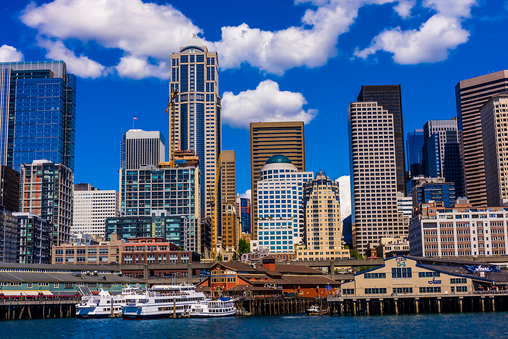Downtown Seattle waterfront, Washington State USA.