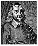 Thomas Hobbes (1588-1679) English political philospher, born at Malmesbury, Wiltshire. Argued for absolute rule. Engraving.  Eighteenth century engraving.
