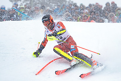 21.01.2018, Hahnenkamm, Kitzbühel, AUT, FIS Weltcup Ski Alpin, Kitzbuehel, Slalom, Herren, 2. Lauf, im Bild Leif Kristian Nestvold-Haugen (NOR) // Leif Kristian Nestvold-Haugen of Norway in action during his 2nd run of men's Slalom of FIS ski alpine world cup at the Hahnenkamm in Kitzbühel, Austria on 2018/01/21. EXPA Pictures © 2018, PhotoCredit: EXPA/ Johann Groder
