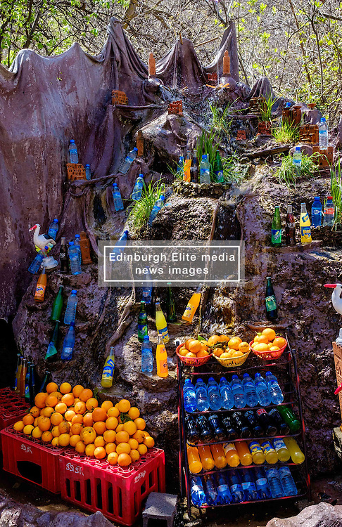 Drinks for tourists cooled in running water in Setti-Fatma in the Ourika Valley, Morocco, North Africa<br /> <br /> (c) Andrew Wilson | Edinburgh Elite media