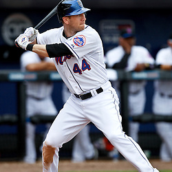 March 6, 2011; Port St. Lucie, FL, USA; New York Mets left fielder Jason Bay (44) during a spring training exhibition game against the Boston Red Sox at Digital Domain Park. The Mets defeated the Red Sox 6-5.  Mandatory Credit: Derick E. Hingle