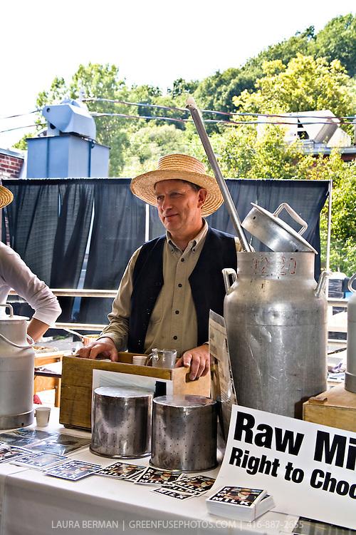 Canadian raw milk proponent, farmer Michael Schmidt. (2007, Picnic at the Brickworks)