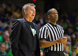 Dec 17, 2015; Charleston, WV, USA; Marshall Thundering Herd head coach Dan D'Antoni talks with an official during the first half against the West Virginia Mountaineers at the Charleston Civic Center . Mandatory Credit: Ben Queen-USA TODAY Sports