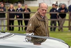 The Duke of Edinburgh arrives to attend the Cartier Trophy at the Guards Polo Club, Windsor Great Park, Surrey.