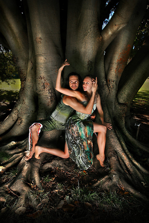 Annabel Bronner Reid from the Australian Ballet and Sidney Saltner from Bangarra indigenous dance comapny, the two groups have come together to create a performance called  Amalgamate , inspired by the comming together of coast and rainforest.  .Pic By Craig Sillitoe SPECIALX 000 melbourne photographers, commercial photographers, industrial photographers, corporate photographer, architectural photographers, This photograph can be used for non commercial uses with attribution. Credit: Craig Sillitoe Photography / http://www.csillitoe.com<br />