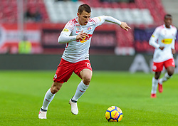 31.03.2018, Red Bull Arena, Salzburg, AUT, 1. FBL, FC Red Bull Salzburg vs RZ Pellets WAC, 28. Runde, im Bild Stefan Lainer (FC Red Bull Salzburg) // during Austrian Football Bundesliga 28th round Match between FC Red Bull Salzburg and RZ Pellets WAC at the Red Bull Arena, Salzburg, Austria on 2018/03/31. EXPA Pictures © 2018, PhotoCredit: EXPA/ JFK