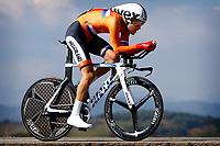 Sykkel<br /> UCI VM 2014<br /> Ponferrada Spania<br /> 24.09.2014<br /> Temporitt menn senior<br /> Foto: PhotoNews/Digitalsport<br /> NORWAY ONLY<br /> <br /> Ponferrada - Spain  - wielrennen - cycling - radsport - cyclisme -  Tom Dumoulin (Holland / Team - GIANT - Shimano) pictured during  Championnats du Monde UCI CLM/ UCI TT World Championships (Men Elite)