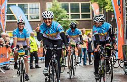 24-06-2017 NED: Start Homeride & Homerun, Utrecht<br /> Vanaf de Domplein startte de HomeRide en Homerun. Een 500km en 200 km event in 24 uur. Leontien van Moorsel