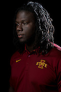 DALLAS, TX - JULY 22:  Iowa State tight end E.J. Bibbs poses for a portrait during the Big 12 Media Day on July 22, 2014 at the Omni Hotel in Dallas, Texas.  (Photo by Cooper Neill/Getty Images) *** Local Caption *** E.J. Bibbs