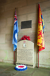 At the entrance to the west tower on the dam wall is this small memorial to the men of 617 Squadron in the West tower is small Museum. Known locally as the Dam Busters Museum it opens Sundays and Bank Holiday<br />