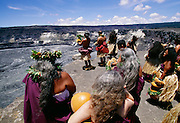 Hawaiian blessing at Kilauea Volcano, HVNP, Island of Hawaii