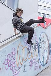 Parkour and Freerunning at Schwendermarkt, Vienna, Austria at the Parkour-Vienna Forum Meeting 23.04.17.