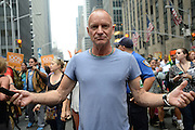 Sept. 21, 2014 - New York, NY, USA -<br /> <br /> Sting marching in The People's Climate March in New York City on September 21, 2014  <br /> ©Exclusivepix