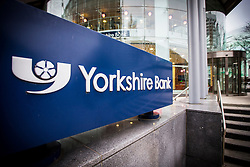 © Licensed to London News Pictures. 19/01/2017. Leeds UK. Picture shows the Yorkshire Bank headquarters in Leeds. The company has confirmed they will close 39 branches in 2017. It is anticipated that 200 jobs will be lost as a result. The bank said in a statement that the number of costumers using their bank for day to day transactions  had fallen by a third since 2011. Yorkshire bank has Photo credit: Andrew McCaren/LNP