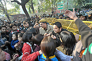 25th Dec. 2012. Demonstrators react to the gang-rape of a young medical student in the Indian capital and the seemingly slow response of both the police and the government.