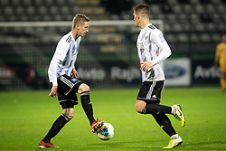 Žan Karničnik of Mura and Jon Šporn of Mura during football match between NŠ Mura and NK Aluminij in 17th Round of Prva liga Telekom Slovenije 2019/20, on November 10, 2019 in Fazanerija, Murska Sobota, Slovenia. Photo by Blaž Weindorfer / Sportida