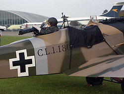 German Junker CL1, Rear Gunner, 1917, The Great War, 1914-18 Aircraft, , The Duxford Air Show, 14th September 2014