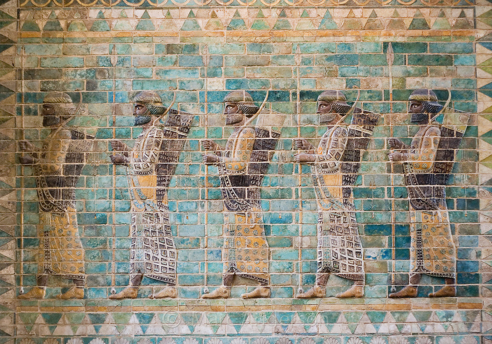 Frieze of archers of the Royal Persian Guard of Darius I, The Louvre, Paris