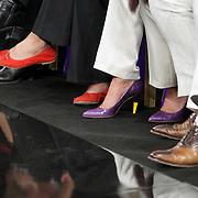 NLD/Amsterdam/20080913 - Modeshow Mart Visser 2008, schoenen van Christine Kroonenberg