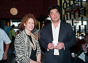 ELIZABETH ANN MCGREGOR; RICHARD CHANG, Brunch to celebrate the launch of Art HK 11. Miss Yip Chinese Cafe. Meridian ave,  Miami Beach. 3 December 2010. -DO NOT ARCHIVE-© Copyright Photograph by Dafydd Jones. 248 Clapham Rd. London SW9 0PZ. Tel 0207 820 0771. www.dafjones.com.