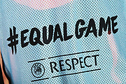 Equal Game and Respect campaign logos on a Cluj bib during the UEFA Europa League, Group E football match between SS Lazio and CFR Cluj on November 28, 2019 at Stadio Olimpico in Rome, Italy - Photo Federico Proietti / ProSportsImages / DPPI