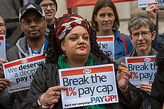 31 Mar 2017 - Civil Servants protest to end the public sector 1% pay cap.
