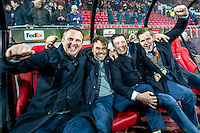 ALKMAAR - 08-12-2016, AZ - FC Zenit, AFAS Stadion, 3-2,  AZ trainer John van den Brom, Assistent trainer Dennis Haar, Assistent trainer Leeroy Echteld, Frank Zaal.