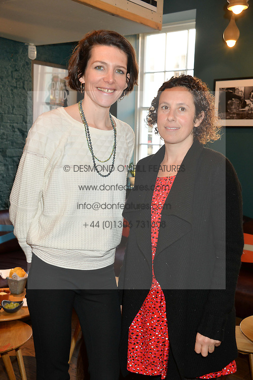 Left to right, THOMASINA MIERS and SAM RODDICK at a ladies lunch hosted by Thomasina Miers was held at her restaurant Wahaca, 19-23 Charlotte Street, London W1 on 10th January 2014.