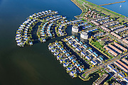 Nederland, Flevoland, Lelystad, 24-10-2013; eengezinswoningen en stadsvilla's in Lelystad-Haven, aan 't Bovenwater.<br /> Family houses and town villas in Lelystad-Haven.<br /> luchtfoto (toeslag op standaard tarieven);<br /> aerial photo (additional fee required);<br /> copyright foto/photo Siebe Swart.