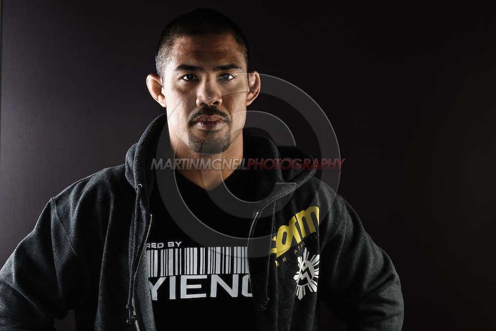 "BIRMINGHAM, ENGLAND, NOVEMBER 3, 2011: Mark Munoz poses for a portrait after the press conference for ""UFC 138: Munoz vs. Leben"" inside the Hilton Hotel in Birmingham, England on November 3, 2011."