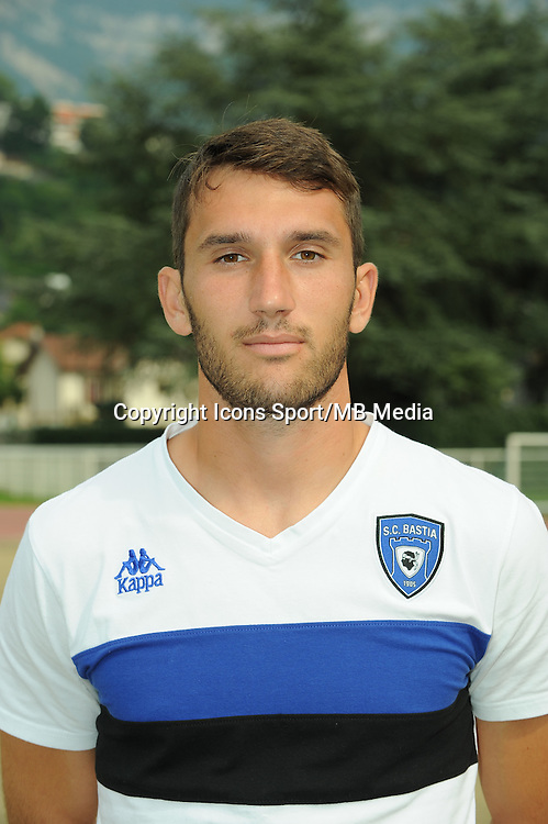 Thomas Vincensini - 19.07.2014 - Bastia / Evian Thonon - Match Amical<br />
