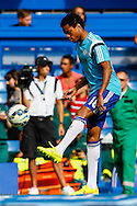Loic Remy of Chelsea wamrs up before the Barclays Premier League match at Stamford Bridge, London<br /> Picture by David Horn/Focus Images Ltd +44 7545 970036<br /> 13/09/2014