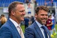 ZWOLLE - 18-09-2016, PEC Zwolle - AZ, MAC3park Stadion, 0-2, AZ trainer John van den Brom, Assistent trainer Dennis Haar