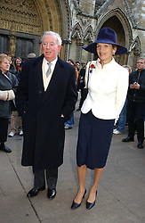 The EARL & COUNTESS OF HALIFAX at the wedding of Clementine Hambro to Orlando Fraser at St.Margarets Westminster Abbey, London on 3rd November 2006.<br />