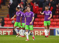 Ryan Kent of Bristol City cuts a dejected figure - Mandatory by-line: Robbie Stephenson/JMP - 30/03/2018 - FOOTBALL - Oakwell Stadium - Barnsley, England - Barnsley v Bristol City - Sky Bet Championship