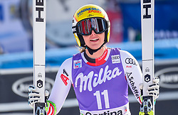 19.01.2019, Olympia delle Tofane, Cortina d Ampezzo, ITA, FIS Weltcup Ski Alpin, Abfahrt, Damen, im Bild Cornelia Huetter (AUT) // Cornelia Huetter of Austria reacts after her run in the ladie's Downhill of FIS ski alpine world cup at the Olympia delle Tofane in Cortina d Ampezzo, Italy on 2019/01/19. EXPA Pictures © 2019, PhotoCredit: EXPA/ Erich Spiess