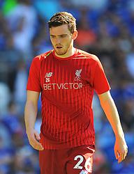 Andrew Robertson of Liverpool warms up- Mandatory by-line: Nizaam Jones/JMP - 21/04/2019 -  FOOTBALL - Cardiff City Stadium - Cardiff, Wales -  Cardiff City v Liverpool - Premier League