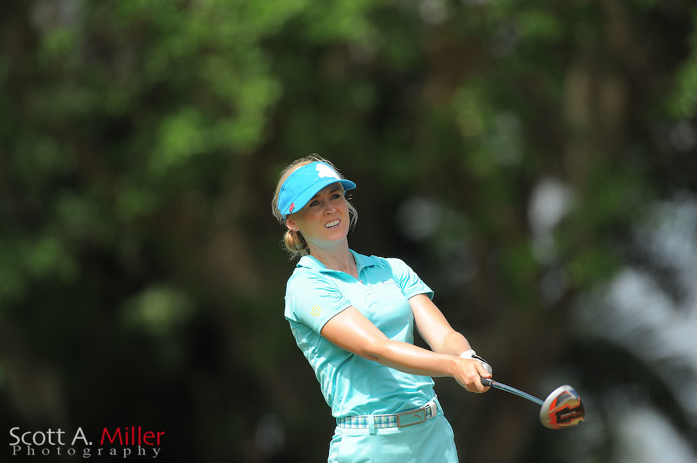 Blair O'Neal during the second round of the Symetra Tour's Florida's Natural Charity Classic at the Lake Region Yacht and Country Club on March 24, 2012 in Winter Haven, Fla. ..©2012 Scott A. Miller.