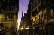 France. massif central. Clermont Ferrand. The Place Terail /The cathedral , the old city  France  /   la place du terrail et la cathedrale dans  la vieille ville   Clermont Ferrand  France   6