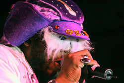 Feb 23rd, 2006. New Orleans, Louisiana. The band P-Funk on stage at The Krewe of Muses after parade party at the Contemporary Arts Center. Muses is the only all women's Krewe to parade in New Orleans and is known for its satire, famous shoe throws and is generally considered one of the most popular parades of the Mardi Gras.
