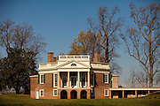 Thomas Jefferson's Poplar Forest retreat in Forest, Virginia designed by Jefferson as his retirement retreat in 1806. The octagon house was built with Palladian principles.