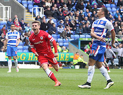 Cardiff City's Conor McAleny celebrates scoring - Photo mandatory by-line: Robbie Stephenson/JMP - Mobile: 07966 386802 - 04/04/2015 - SPORT - Football - Reading - Madejski Stadium - Reading v Cardiff City - Sky Bet Championship
