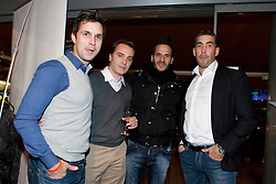 (L): Jaka Jakopic, , Zlatan Ljubijankic and  during New Year party of FIFA licensed players agency Players Promotion on December 22, 2012 in Ljubljana. (Photo by Urban Urbanc / Sportida.com)