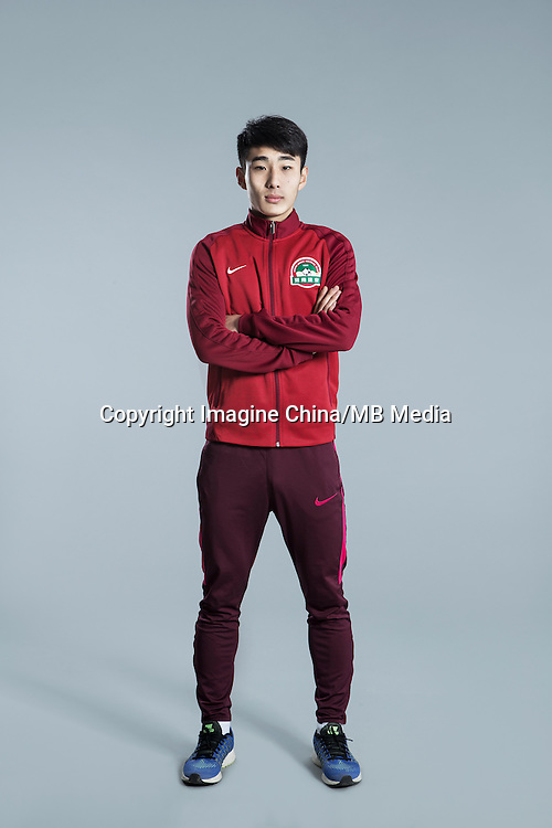 Portrait of Chinese soccer player Jin Qi of Henan Jianye F.C. for the 2017 Chinese Football Association Super League, in Zhengzhou city, central China's Henan province, 19 February 2017.