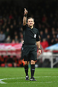 Referee Keith Stroud during the EFL Sky Bet Championship match between Brentford and Queens Park Rangers at Griffin Park, London, England on 2 March 2019.