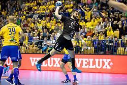 Senjamin Buric of HC PPD Zagreb during handball match between RK Celje Pivovarna Lasko (SLO) and HC PPD Zagreb (CRO) in Group phase of VELUX EHF Men's Champions League 2018/19, November 18, 2018 in Arena Zlatorog, Celje, Slovenia. Photo by Urban Urbanc / Sportida