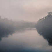 Morning fog along the river Xié
