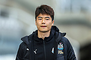 Ki Sung-Yueng (#4) of Newcastle United arrives ahead of the Premier League match between Newcastle United and Everton at St. James's Park, Newcastle, England on 9 March 2019.